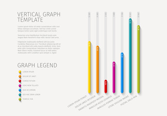 Colorful Vertical Bar Graph Layout