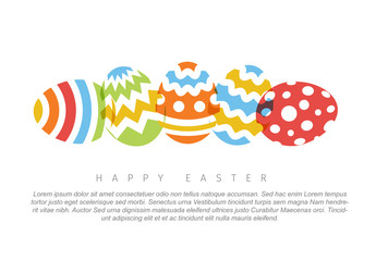 Colorful Eggs Digital Card Layout
