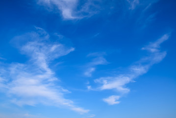 A blue sky with clouds in the morning
