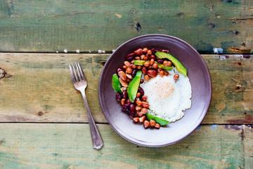 English Breakfast in plate
