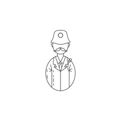 avatar policeman icon. Professions for mobile concept and web apps. Thin line  icon for website design and development, app development. Premium icon