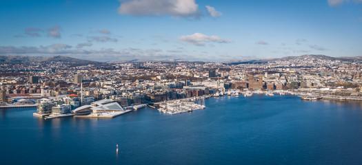 Panorama of Oslo, Norway: Tjuvholmen, Aker Brygge & City Hall