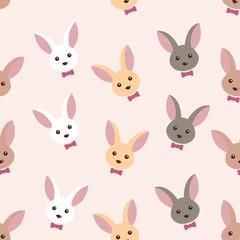 cute bunny rabit seamless pattern design