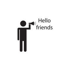 greet friends icon. Detailed icon of friendship and relationships icon. Premium quality graphic design. One of the collection icon for websites, web design, mobile app