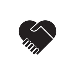 handshake with love icon. Detailed icon of friendship and relationships icon. Premium quality graphic design. One of the collection icon for websites, web design, mobile app