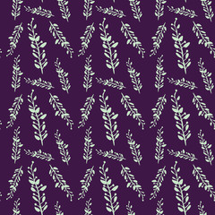 Green and Purple Vine Background