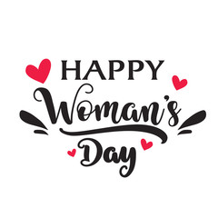 Happy Intenational Womens Day Calligraphy Banner.