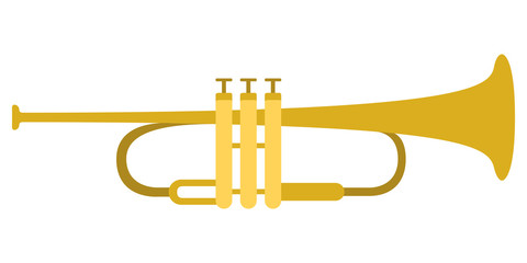 Isolated trumpet icon. Musical instrument