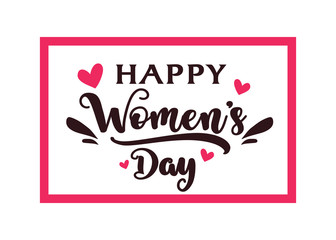 Happy Women's Day Greeting card. Background for 8 March.