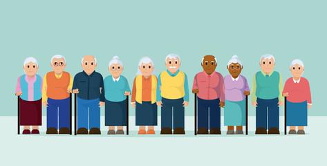 Group of the elderly