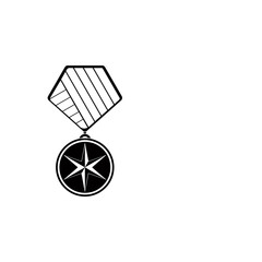 military medal icon. Element of medal and awards for mobile concept and web apps. Thin line  icon for website design and development, app development. Premium icon