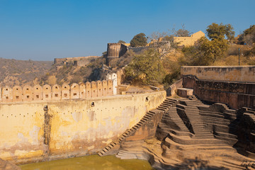 Nahargarh Fort and Step Well in Jaipur India