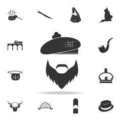 The face of a Scottish man icon. Detailed set of United Kingdom culture icons. Premium quality graphic design. One of the collection icons for websites, web design, mobile app