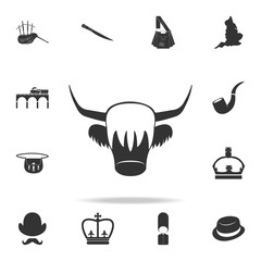 Red Yak icon. Detailed set of United Kingdom culture icons. Premium quality graphic design. One of the collection icons for websites, web design, mobile app