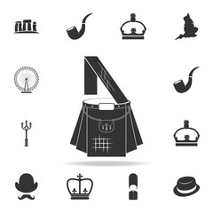 Scottish kilt icon. Detailed set of United Kingdom culture icons. Premium quality graphic design. One of the collection icons for websites, web design, mobile app