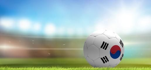 Korea Republic soccer football ball 3d rendering