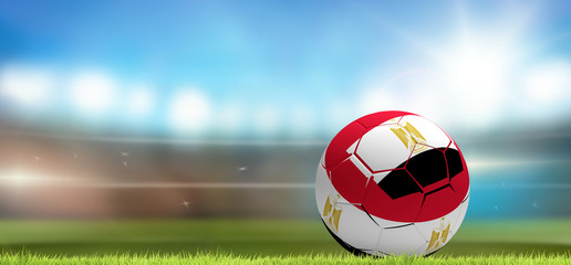 Egypt soccer football ball 3d rendering