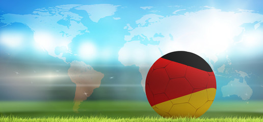 Germany soccer football ball 3d rendering. Elements of this image furnished by NASA.