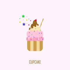 Cupcake Vector Template Design