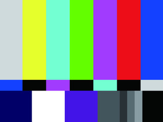Television test pattern of stripes.eps