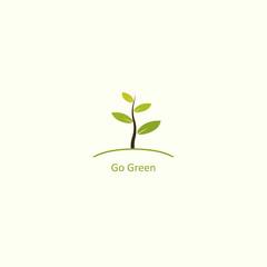 Go Green Vector Template Design
