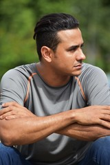 Athletic Man Waiting