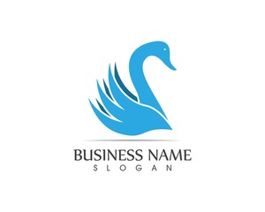 Swan logo design template