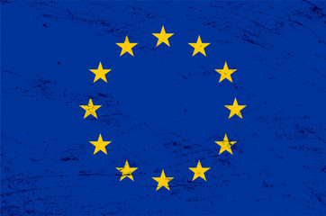 Vector grunge European Union flag background