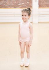 Little toddler girl at the ballet class