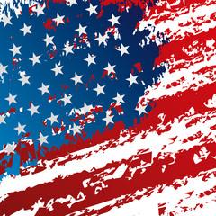 flag of united states grunge symbol