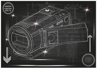 Camera on gray