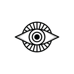 one eye sign symbol logo logotype