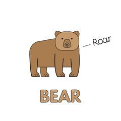 Cartoon Bear Flashcard for Children
