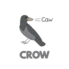 Cartoon Crow Flashcard for Children