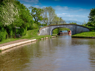 Canal bridge at the Hurleston Junction whre the LLangollen Canal meets the Shropshire Union Canal