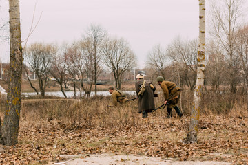 Scouts of the Red Army in the field