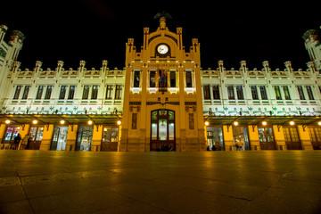 Fotobehang Treinstation Valencia train station, Spain