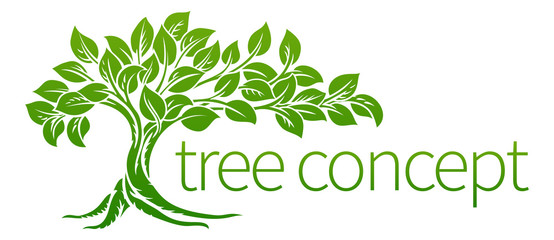 Tree Icon Concept Wall mural