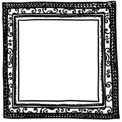 Square doodle frame