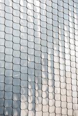Fish scale texture silver metal shape wall cover chrome reflection background