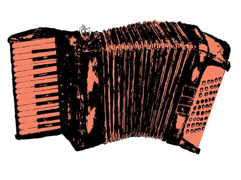 Grunge Retro Accordion