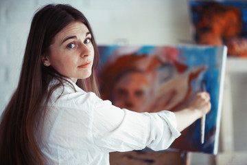 Drawing pictures creative portrait artist process