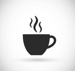 Coffee or tea cup icon vector