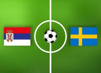 Schweden VS Serbien - Fußball