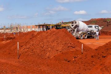 Construction Site Concrete Truck
