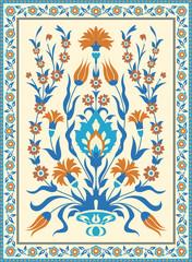 Folk style floral design