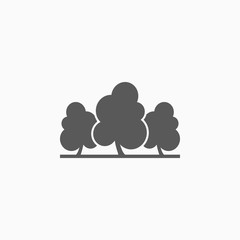 tree icon, plant vector