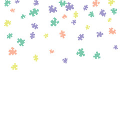 Confetti Background Pattern. Puzzle pieces and big ideas design, vector illustration graphic
