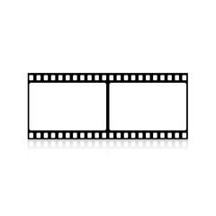 Klisza filmowa na białym tle ilustracja wektorowa