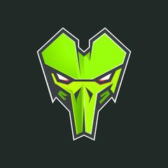 mask design vintage logo graphic